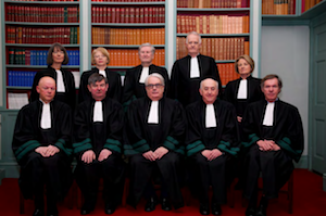 Current members of the Irish Supreme Court; via the 2018 Annual Report