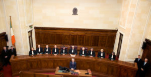 Full Bench of Irish Supreme Court; via the Court's site