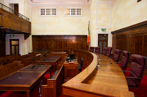 Supreme Court courtroom via Annual Report 2018